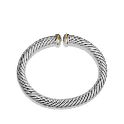 Cable Spira Bracelet with 18K Gold, 7mm