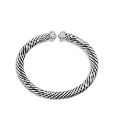 Cable Spira Bracelet with Diamonds