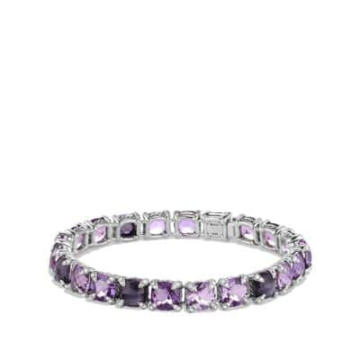Chatelaine Bracelet with Black Orchid, Amethyst and Diamonds