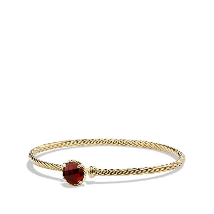 Châtelaine Bracelet with Garnet in 18K Gold