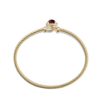 Bracelet with Garnet in 18K Gold, 8mm