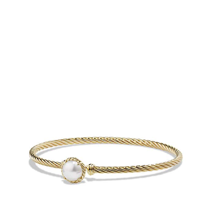 Châtelaine Bracelet with Pearl in 18k Gold