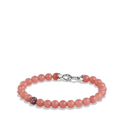 Spiritual Beads Bracelet with Guava Quartz and Rhodalite Garnet
