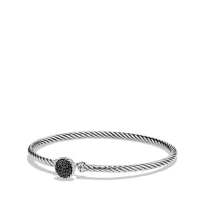Petite Pave Bracelet with Black Diamonds