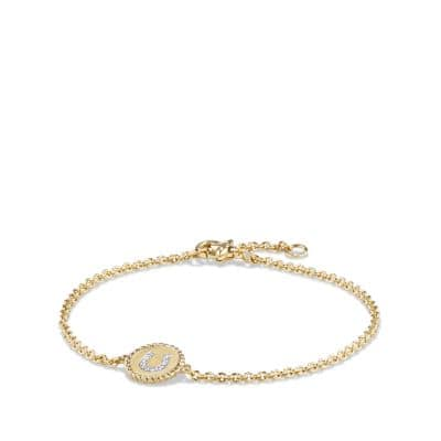 Cable Collectibles Horseshoe Bracelet with Diamonds in 18K Gold, 2mm