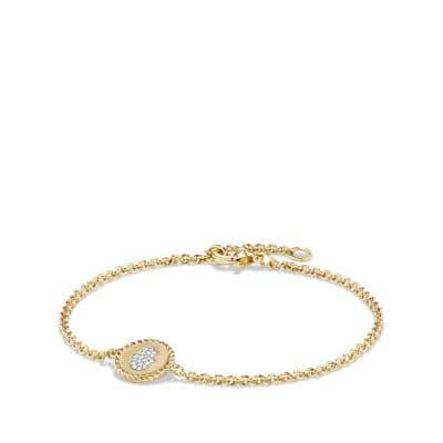 Cable Collectibles Hamsa Bracelet with Diamonds in 18K Gold, 2mm
