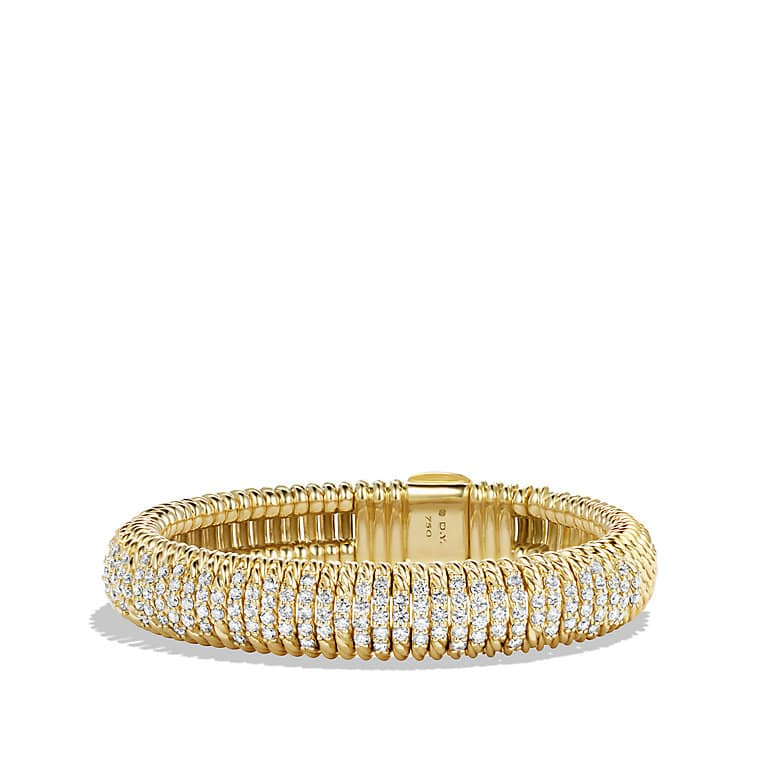 Bracelet with Diamonds in 18K Gold, 12mm
