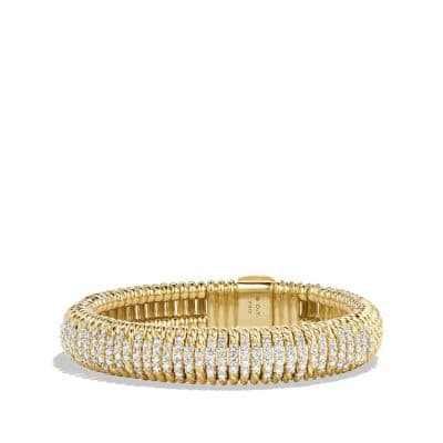 Bracelet with Diamonds in 18K Gold, 12mm thumbnail