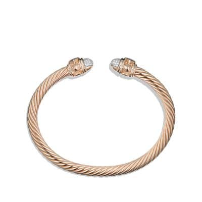 Renaissance Bracelet with Diamonds in 18K Rose Gold, 5mm