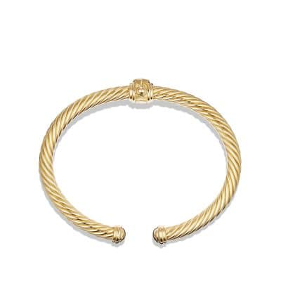 Renaissance Bracelet with Diamonds in 18K Gold, 5mm