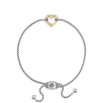 Heart Station Bracelet with 18K Gold
