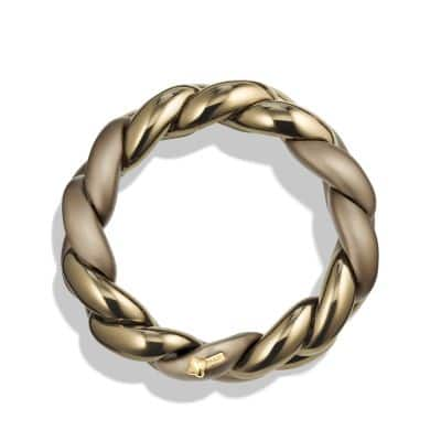 Belmont Curb Link Bracelet in Titanium with an Accent of 18K Gold