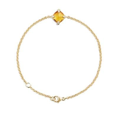 Bracelet with Citrine and Diamonds in 18K Gold