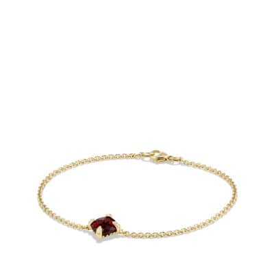 Bracelet with Garnet and Diamonds in 18K Gold