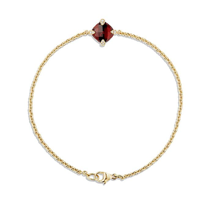 Chatelaine® Bracelet with Garnet and Diamonds in 18K Gold