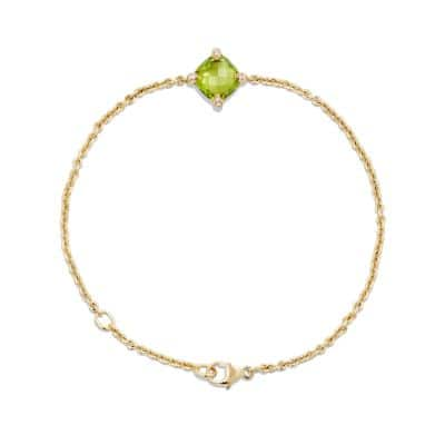 Chatelaine Bracelet with Peridot and Diamonds in 18K Gold