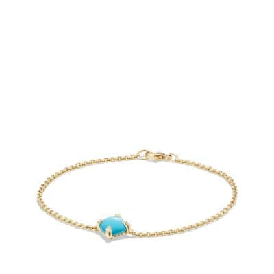 Bracelet with Turquoise and Diamonds in 18K Gold