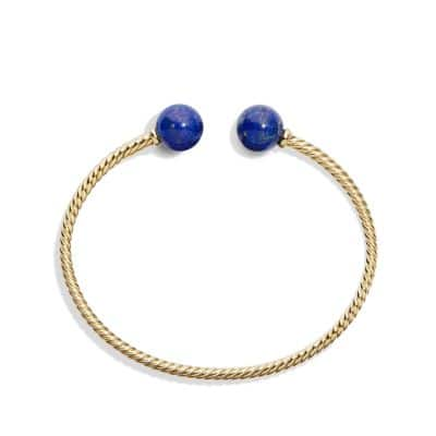 Bead Bracelet with Lapis Lazuli in 18K Gold