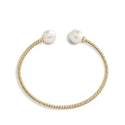 Solari Bead Bracelet with Pearl in 18K Gold