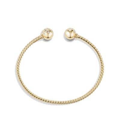 Bead Bracelet with Diamonds in 18K Gold