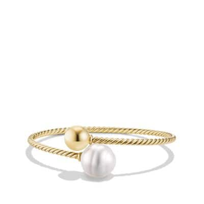 Solari Bypass Bracelet with Pearls in 18K Gold