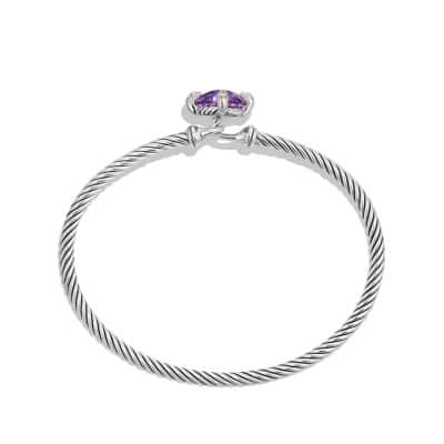 Chatelaine Bracelet with Amethyst and Diamonds, 9mm