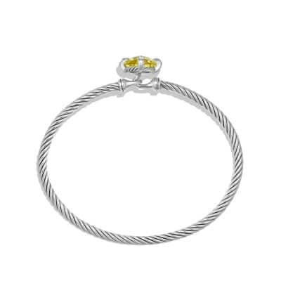 Chatelaine Bracelet with Lemon Citrine and Diamonds, 9mm