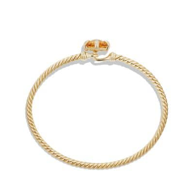 Chatelaine Bracelet with Citrine and Diamonds in 18K Gold, 8mm