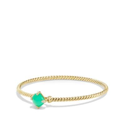 Chatelaine Bracelet with Chrysoprase and Diamonds in 18K Gold, 8mm