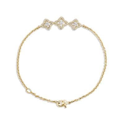 Venetian Quatrefoil Bracelet with Diamonds in 18K Gold