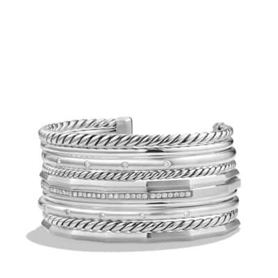 Stax Wide Cuff Bracelet with Diamonds, 29.5mm thumbnail