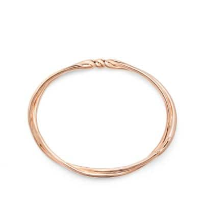 Continuance Center Twist Bracelet in 18K Rose Gold