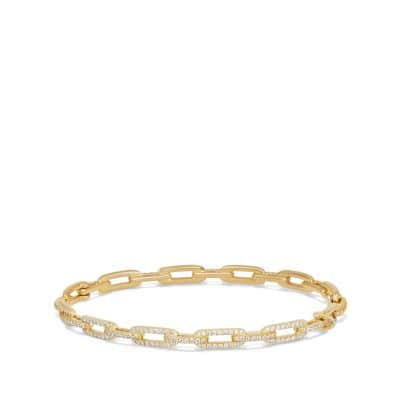 Stax Chain Link Bracelet with Diamonds in 18K Gold, 4mm thumbnail
