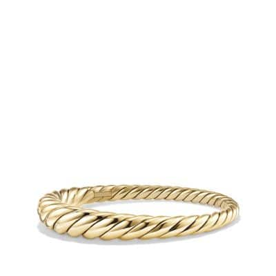 Pure Form® Cable Bracelet in 18K Gold, 9.5mm