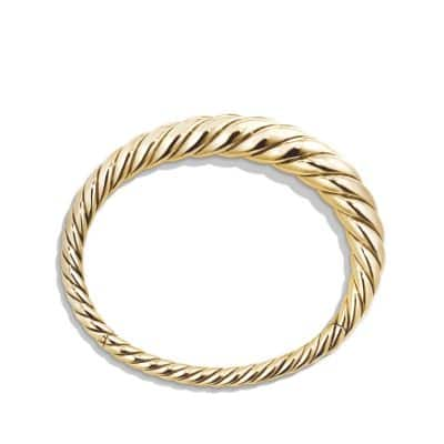 Pure Form Cable Bracelet in 18K Gold, 9.5mm