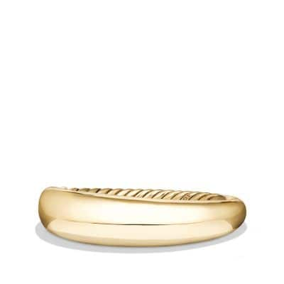 Pure Form Smooth Bracelet in 18K Gold, 17mm