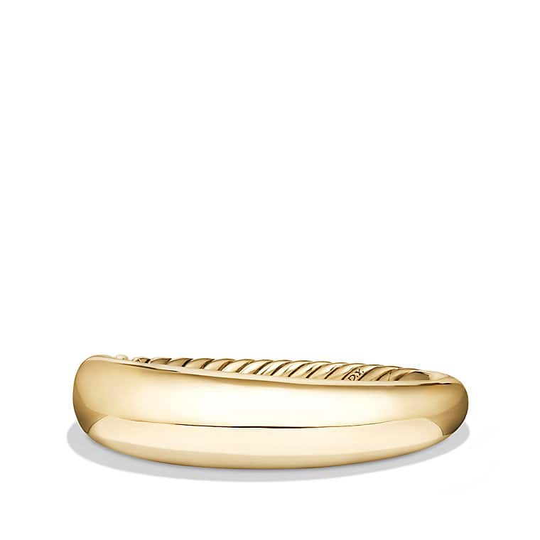 Pure Form® Smooth Bracelet in 18K Gold, 17mm