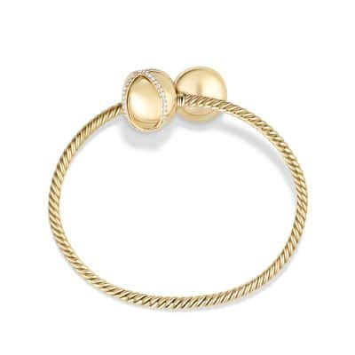 Solari Bypass Bracelet with Diamonds in 18K Gold