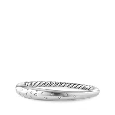 Pure Form® Smooth Bracelet with Diamonds, 9.5mm