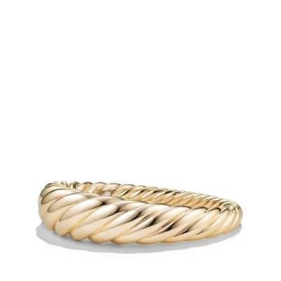 Pure Form® Cable Bracelet in 18K Gold, 17mm