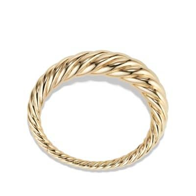 Pure Form Cable Bracelet in 18K Gold, 17mm