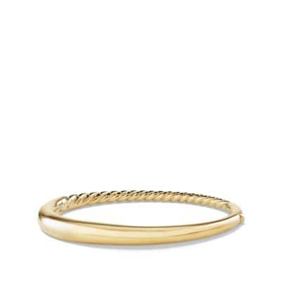 Pure Form Smooth Bracelet in 18K Gold, 6.5mm