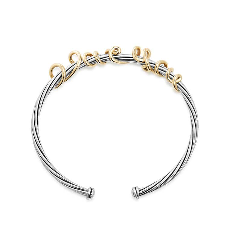 DY Whispers I Love You Bracelet with 14K Gold