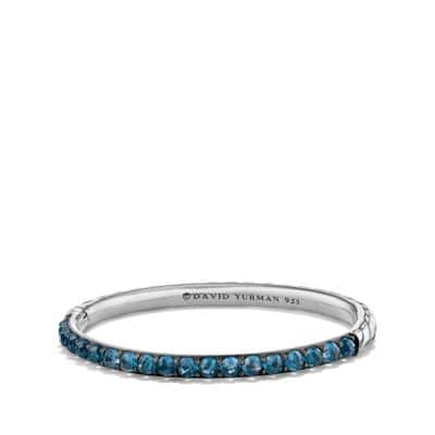 Osetra Bangle Bracelet with Hampton Blue Topaz, 5mm