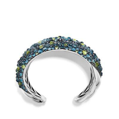 Osetra Cuff Bracelet with Hampton Blue Topaz, Peridot and Diamonds