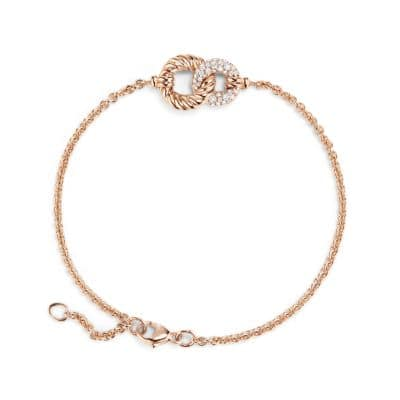 Belmont® Curb Link Pendant Bracelet with Diamonds in 18K Rose Gold