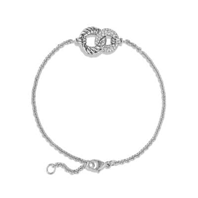 Belmont® Curb Link Pendant Bracelet with Diamonds in 18K White Gold