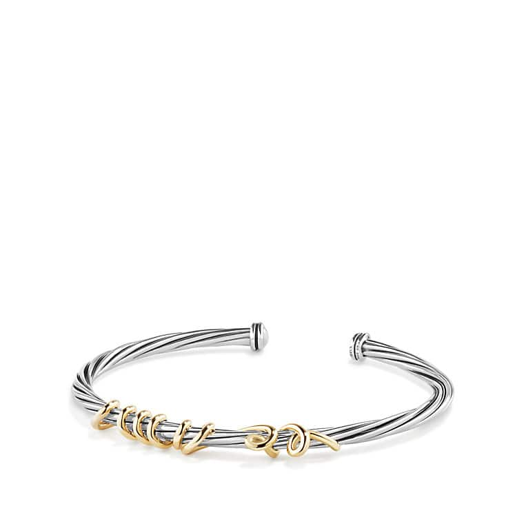 DY Whispers Te Amo Bracelet with 14K Gold