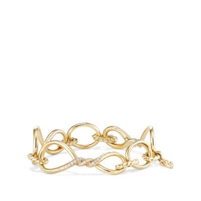 Continuance Chain Bracelet with Diamonds in 18K Gold