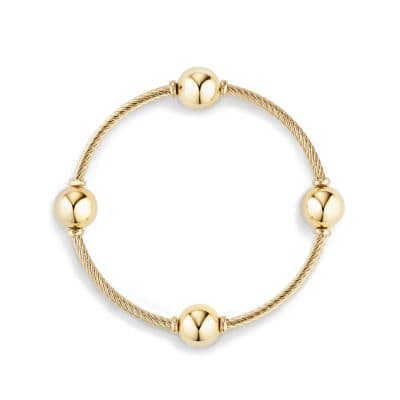 Mustique Four Station Bangle Bracelet in 18K Gold